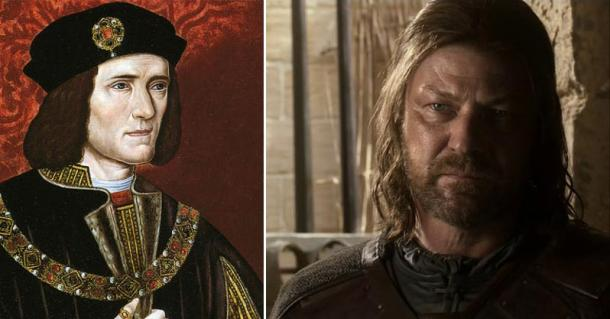 Richard of York (Wikimedia Commons) compares with Ned Stark (EyesOnFire89/Flickr)