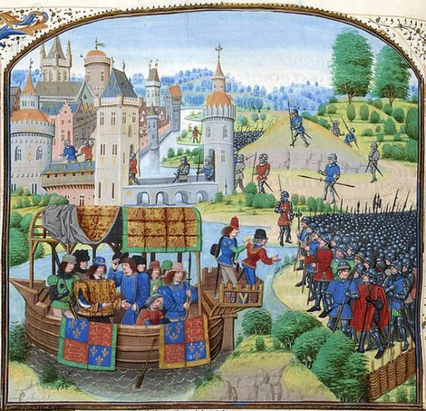 Richard II meeting with the rebels of the Peasants' Revolt of 1381. Public domain