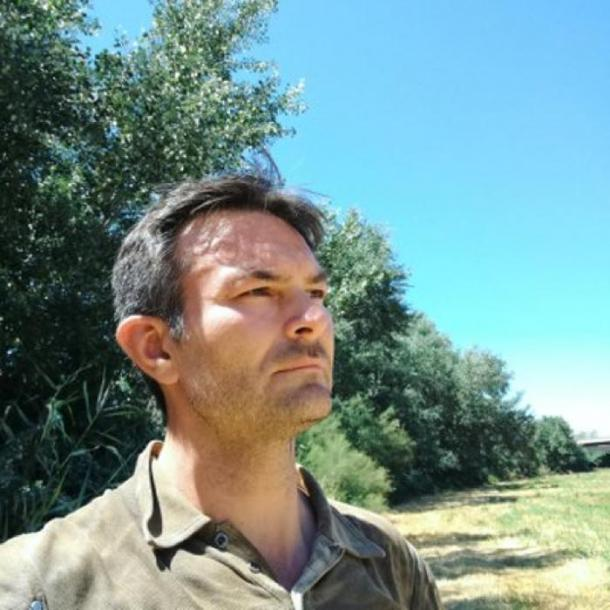 Military Historian Ricky D Phillips standing on the site of Hannibal's first battlefield, July 2018.