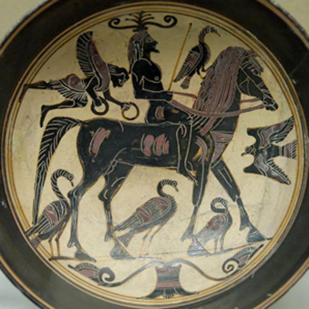 Rider and birds, messengers of omens, from the ancient Greek play by Aristophanes. (Jastrow / Public Domain)