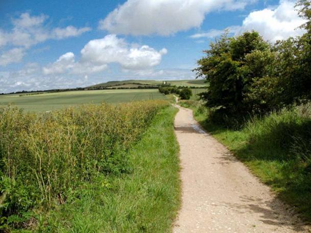 The Ridgeway running past Uffington, England. (© Graham Phillips)