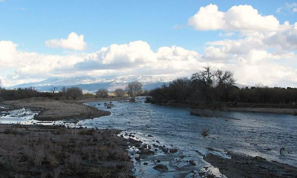 Rillito River & Rincon Mountains. Old Fort Lowell, Tucson, Arizona.