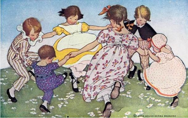 Ring a-round-a roses (1912) J. Willcox Smith (Wikimedia Commons)