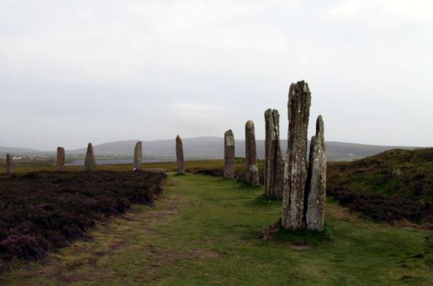 Ring of Brodgar, a Neolithic henge and stone circle, on the main island of Orkney