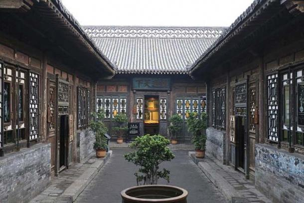 A view of the Rishengchang Exchange House in Pingyao.