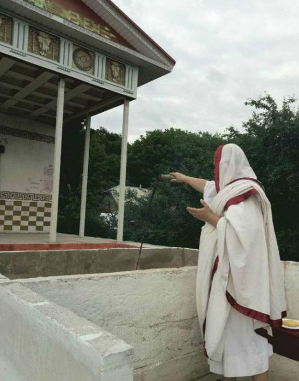 Ritual at the Iuppiter Perunus temple.