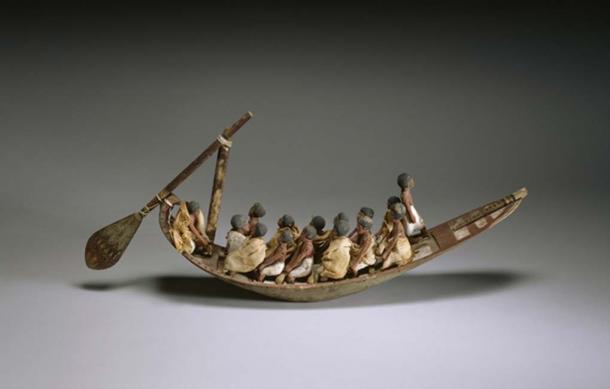 Model of a River Boat.