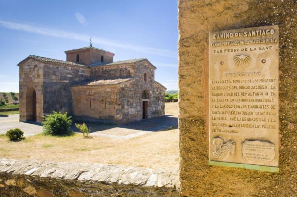 Road to Santiago de Compostela, church of San Pedro de la Nave, El Campillo, Castile and Leon, Spain.