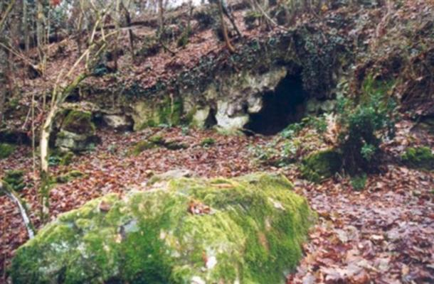 Entrance to the la Roche-Cotard cave, France.