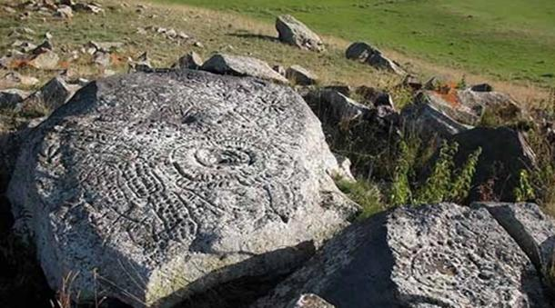 Rock art at the Sevsar Astrological Observatory, Armenia.