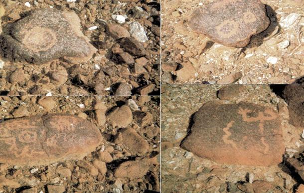 Rock art in the Hajar Mountains.