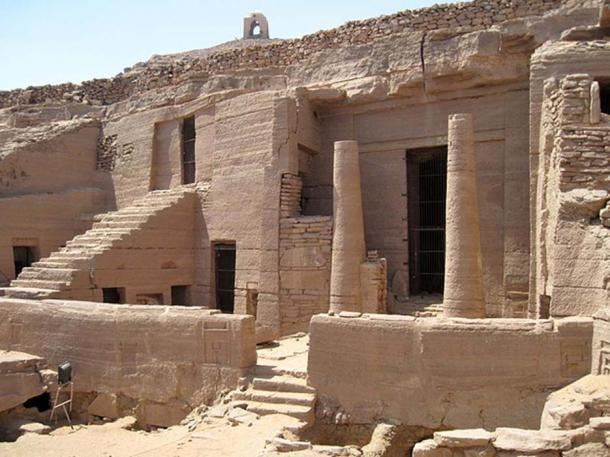 Rock cut tombs previously found in Qubbet el-Hawa