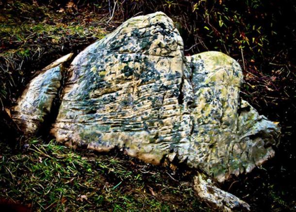 Rock cuts, or possible petroglyphs