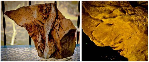 Rock cuts or possible petroglyphs