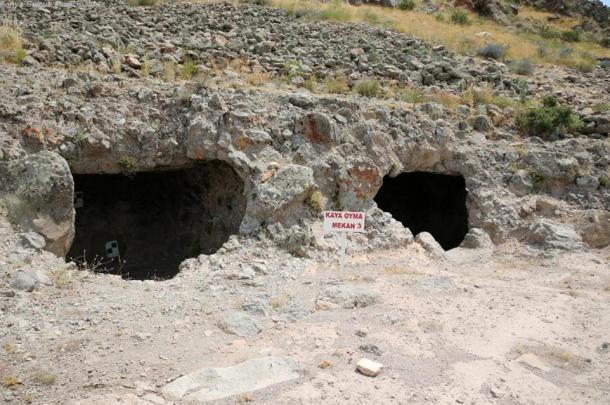 Rock-hewn cisterns unearthed at Geval Castle, Turkey.