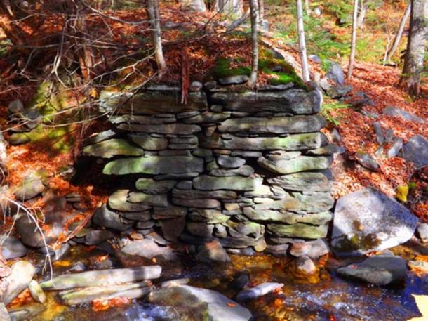 Rock wall in New England