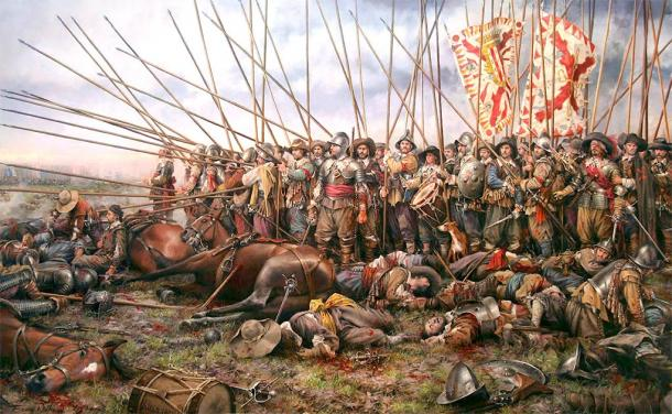 The Battle of Rocroi was the end of the Spanish Empire's dominance in Europe. (Soerfm / CC BY-SA 3.0)