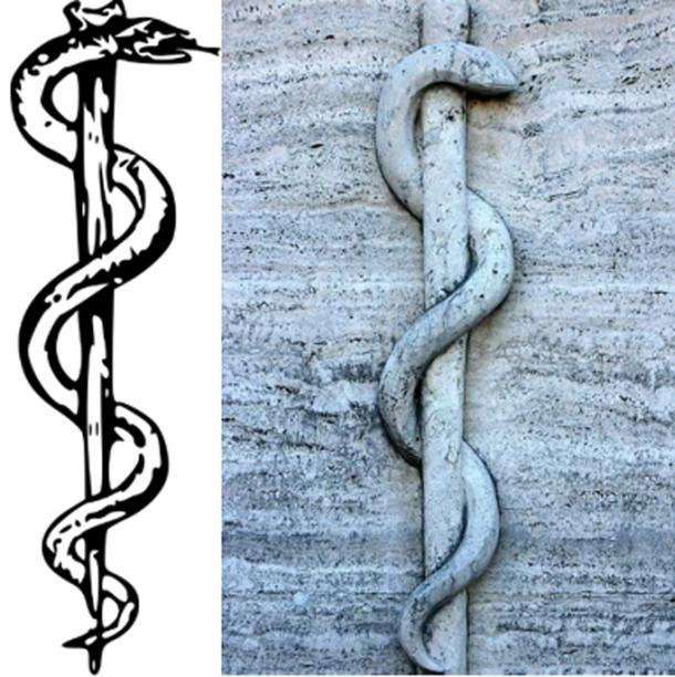 Rod of Asclepius symbol of healing and medicine. (CC BY-SA 3.0/CC0)