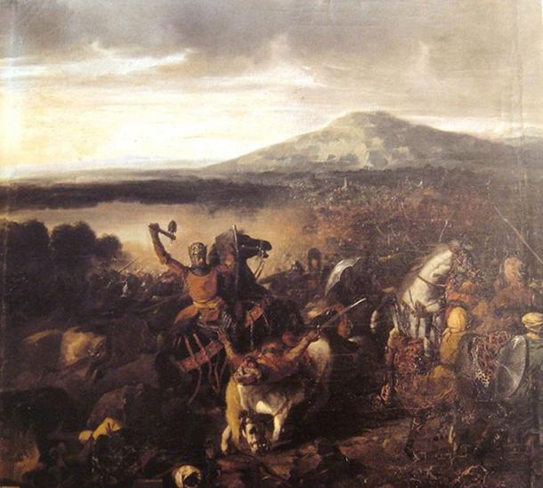 'Roger I of Sicily at the Battle of Cerami in 1063' (circa 1860) by Prosper Lafaye. (Public Domain)