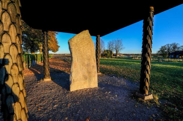 The Rök stone - the most famous runestone in Sweden. Credit: rolf_52 / Adobe Stock