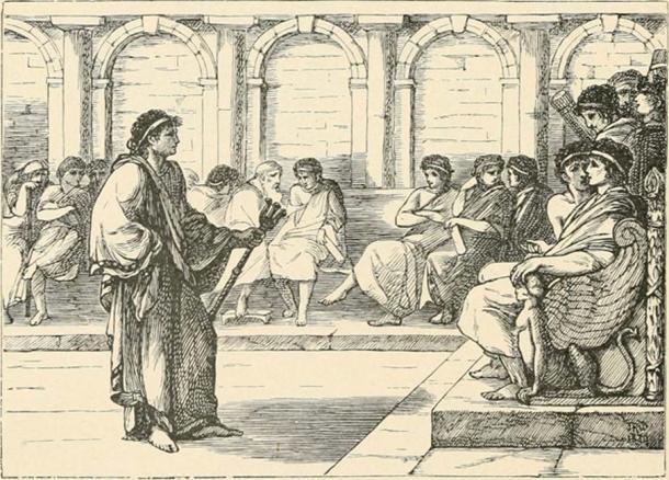 Roman Consul in Negotiations. (New York Public Library / Public Domain)