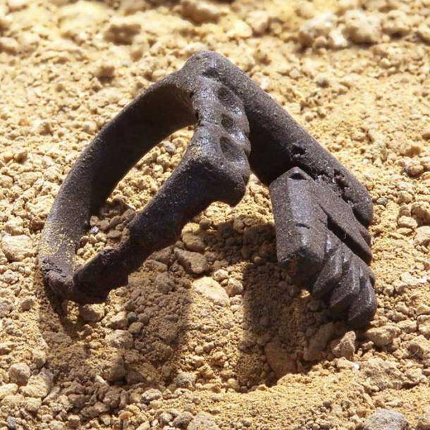Roman Key wedding ring. This ring was made of iron and worn by the wife.