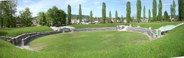 The Roman amphitheatre of Vindonissa, now Windisch, Switzerland