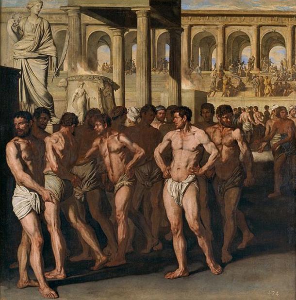 'Roman athletes' (circa 1640) by Aniello Falcone. (Public Domain)