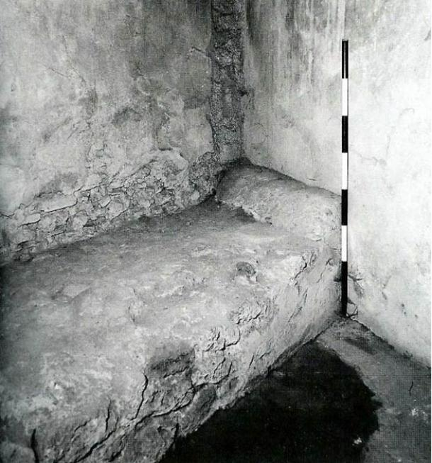 Some purpose built Roman brothels had permanent foundations for beds, such as this one in Pompeii.