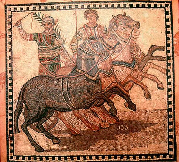 Winner of a Roman chariot race.
