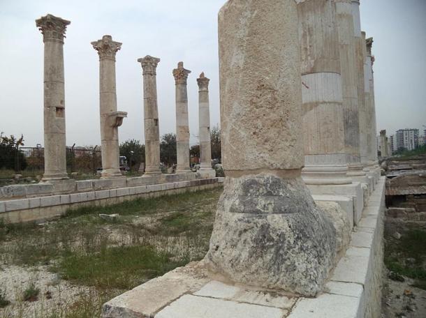 Many of the 200 Roman-era pillars at Soli Pompeipolis are still standing.