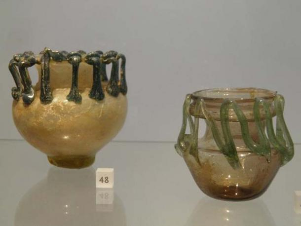 Roman glass.