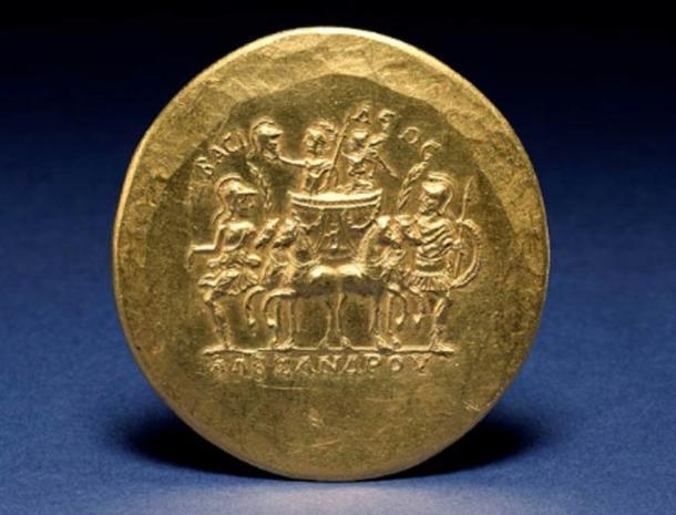 Roman golden coin featuring Alexander the Great