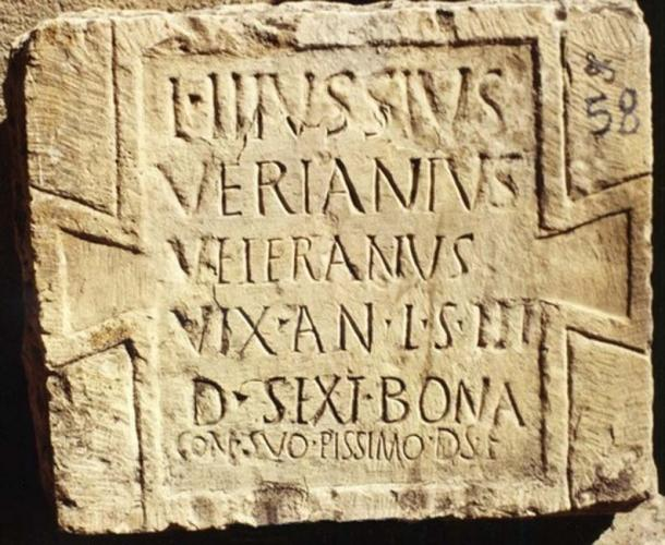 Roman inscription at Teveste (Alföldy, G / CC BY-SA 3.0)