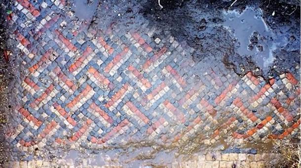 The Roman mosaic Mr. Irwin found in his backyard.