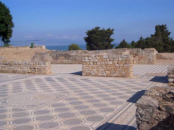 Roman mosaics and walls in Empúries, Spain.