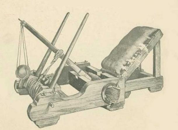 Roman onager, catapult with sling