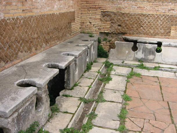 Roman public toilets, Ostia Antica.