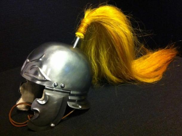Replica of a Roman rider helmet iron from the middle of the 1st century BC.