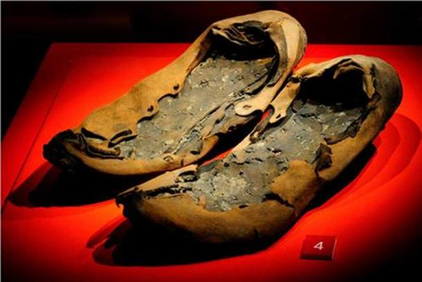Roman shoes found at Vindolanda.