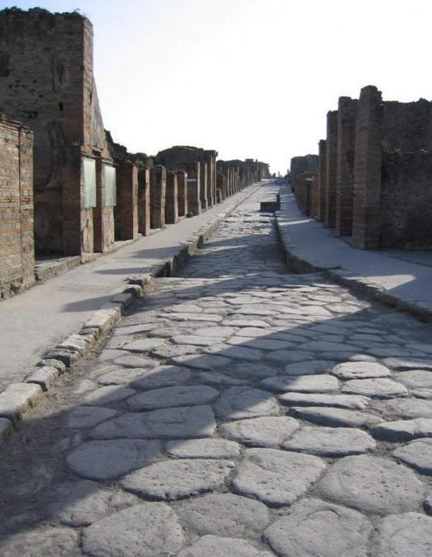 A Roman street in Pompeii.