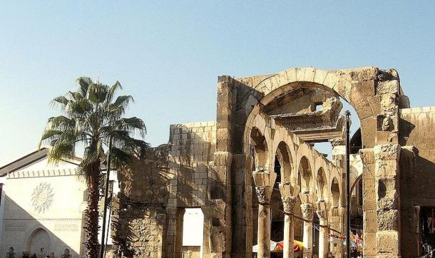 The ruins of Damascus' Roman temple of Jupiter.