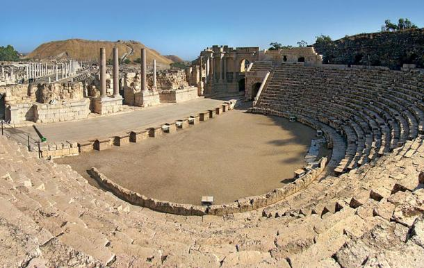 Roman theater of Scythopolis, Beit She'an, Israel.