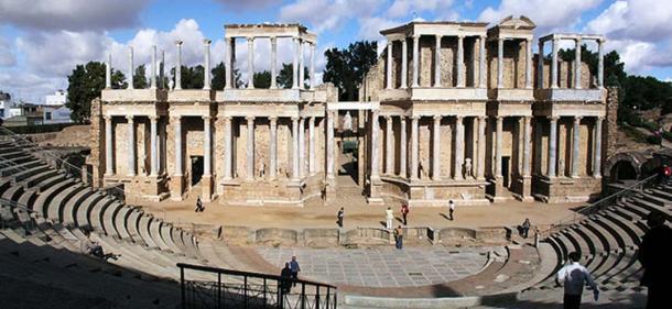 The Roman theater in Mérida, Spain.