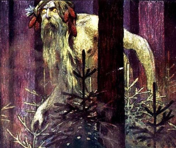 Artistic representation of a Romanian giant.
