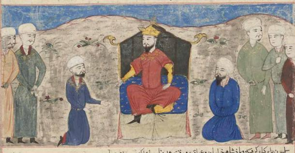 Romanos IV Diogenes's biggest enemy beyond his internal foes were the Seljuk Turks and this is their leader, Alp Arslan (1029-1072 AD), ascending the throne in Herat, Afghanistan. (Hafiz-i Abru / Public domain)