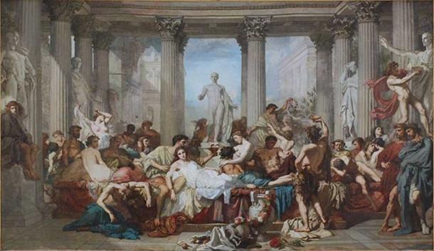 'Romans during the Decadence' (1847) by Thomas Couture.