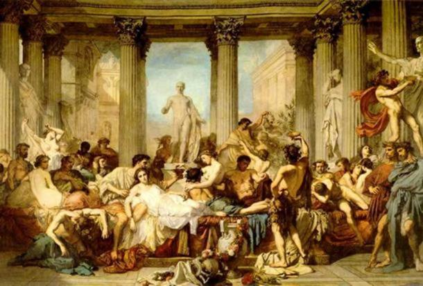 'The Romans of the Decadence' (1847) by Thomas Couture.