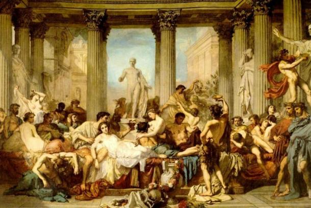 'The Romans of the Decadence' (1847) by Thomas Couture