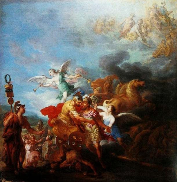 'Romulus being taken up to Olympus by Mars' by Jean-Baptiste Nattier. (Public Domain)